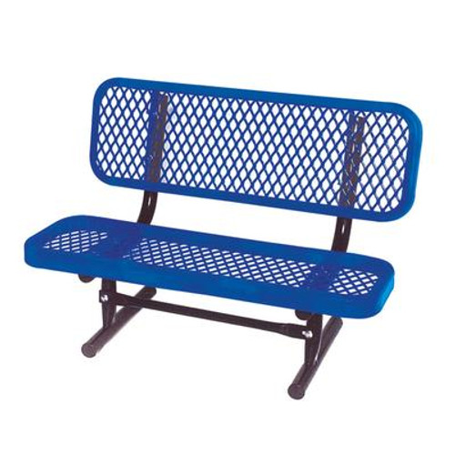 3 ft Commercial Preschool Bench- Blue