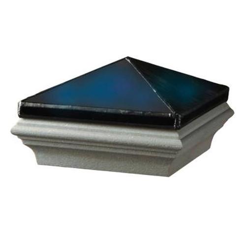 5x5 jewel sapphire w/gray base