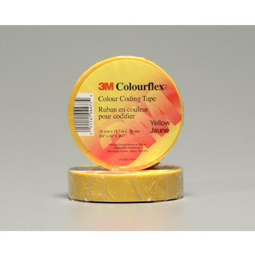 3M Colourflex Yellow Coding Electrical Tape