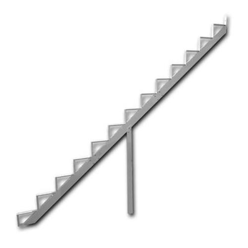 13-Steps White Aluminium Stair Riser Includes one ( 1 ) riser only