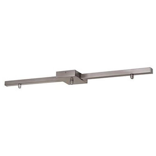 3 Light Square Pendant Bar  - Brushed Nickel