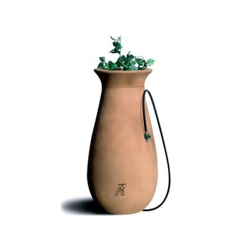 Cascata 65 gallon Decorative Rain Barrel with Integrated Planter - Terra Cotta