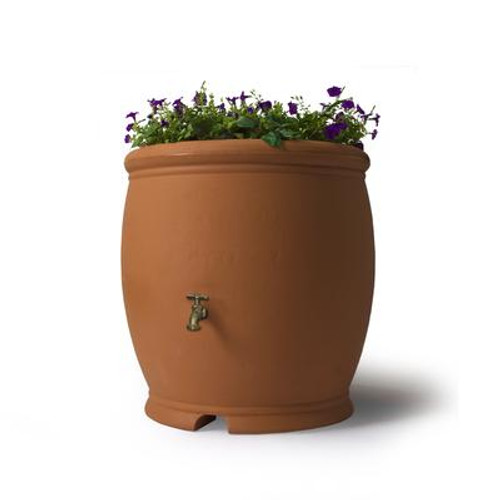 Barcelona 100 Gallon Decorative Rain Barrel - Terra Cotta