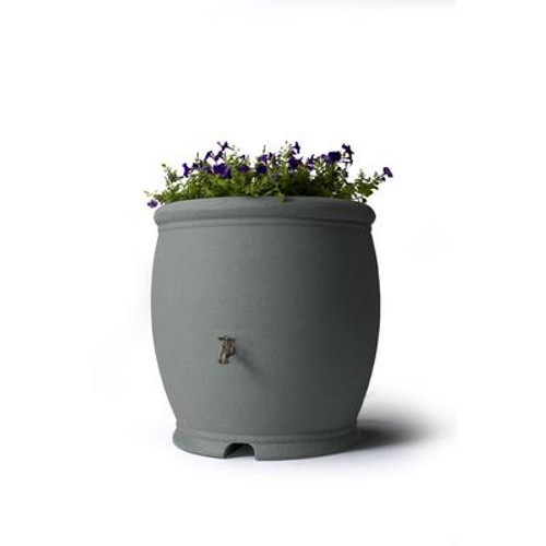 Barcelona 100 Gallon Decorative Rain Barrel - Dark Granite