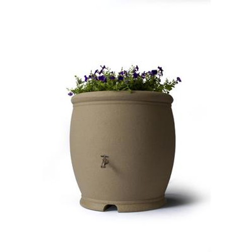 Barcelona 100 Gallon Decorative Rain Barrel - Sandstone