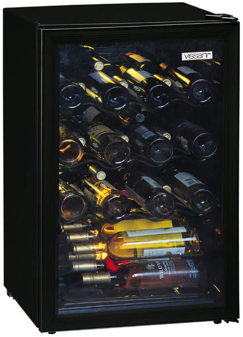 52 Bottle Wine Cooler Black