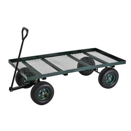 60 in. L x 36 in. W Green Heavy Duty Large Flat Nursery Wagon