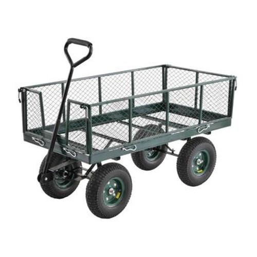 48 in. L x 24 in. W Green Heavy Duty Jumbo Crate Wagon