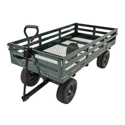 60 in. L x 31 in. W Green Heavy Duty Steel Large Crate Wagon
