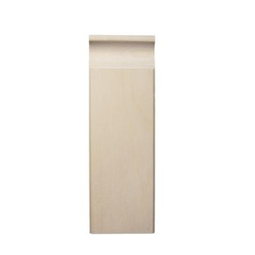Pine Plinth Block 7/8 In. x 2-3/4 In. x 8 In.
