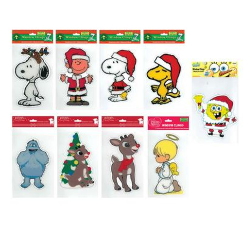 Licensed 2 Sided Window Cling Assortment - 6 x 10