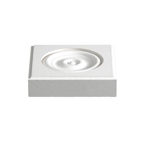 Primed Fibreboard Corner Block 1 In. x 4-1/8 In. x 4-1/8 In.