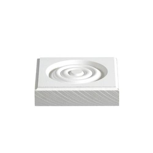 Primed Fibreboard Corner Block 7/8 In. x 3-3/4 In. x 3-3/4 In.