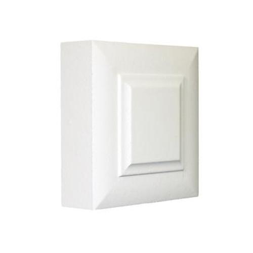 Primed Fibreboard Victorian Corner Block 1 In. x 3 In. x 3 In.