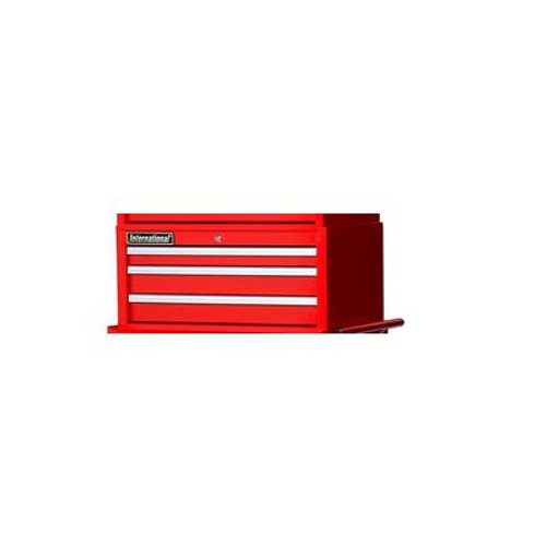 26 Inch 3 Drawer Red Intermediate Chest
