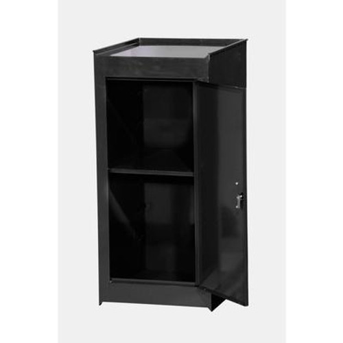 15 Inch Black One Shelf Side Locker