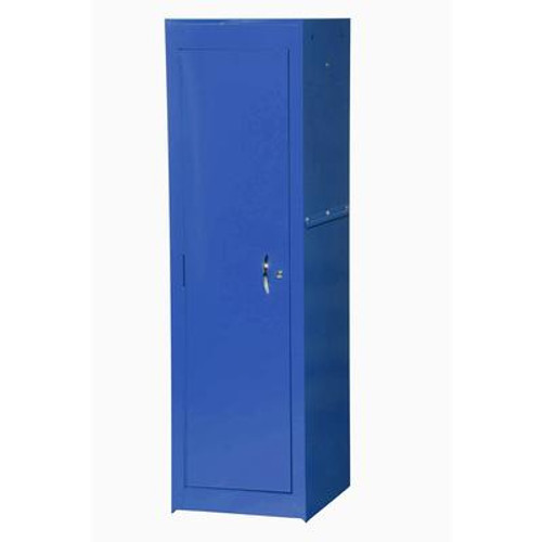 15 Inch Blue Two Shelf Full Length Side Locker