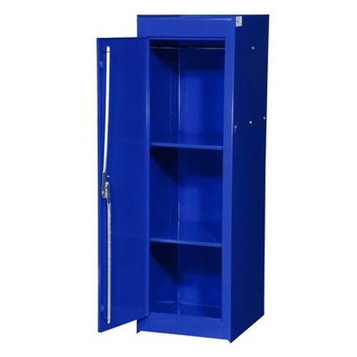 15 Inch Blue Two Shelf Exta Deep Full Length Side Locker