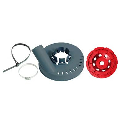 DUSTIE Vacuum  Shroud And  Diamond Cup Wheel 5 Inch