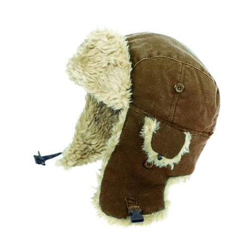 Duck Aviator Hat Brown Medium