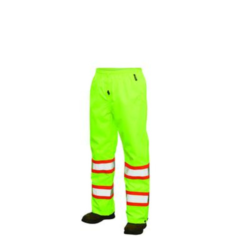 Hi-Vis Rain Pant With Safety Stripes Yellow/Green 2X Large