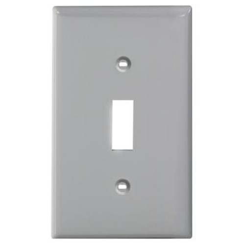 1-Gang Nylon Switch Plate Gray