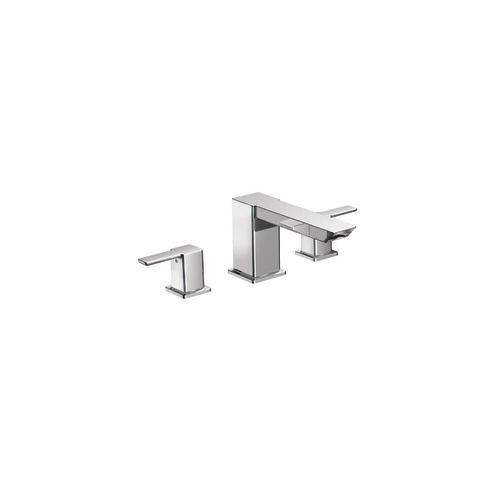 90 Degree 2-Handle High Arc Roman Tub Faucet in Chrome