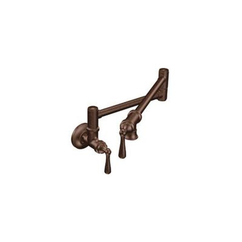 Pot Filler Two Handle Kitchen Faucet in Oil Rubbed Bronze