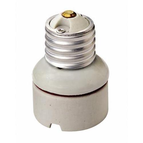 2 Piece Porcelain Medium To Medium Lamp holder Socket Extension