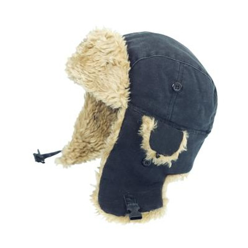 Duck Aviator Hat Black Large