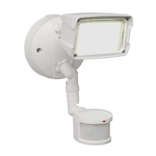 Defiant 110 Degree Small Single Motion Activated Outdoor White LED Security Floodlight