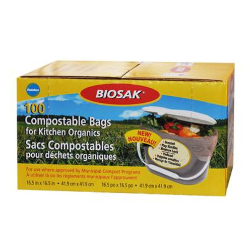 100 Compostable Bags for Kitchen Organics