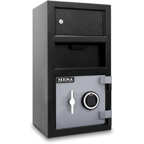 All Steel MFL2014E-OLK 1.5 cu. ft. Capacity Depository Safe with an Exterior Locker