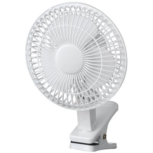 6 Inch Clip on Fan - White