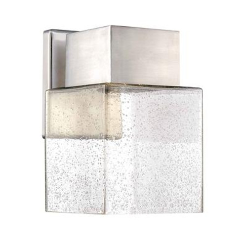 Wall Mounted Outdoor Brushed Nickel LED Powered Lantern