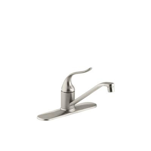 Coralais Single-Control Kitchen Sink Faucet With 8-1/2 Inch Spout And Lever Handle