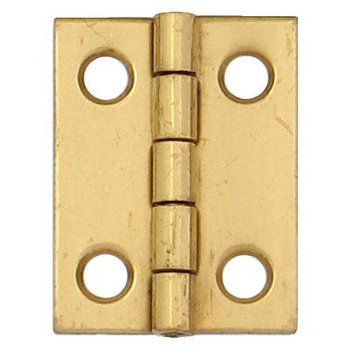 1 Inch  Solid Brass Narrow Hinge 4pk