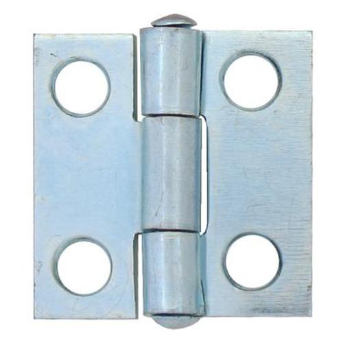 1 Inch  Zinc Narrow Hinge Fixed Pin 2pk
