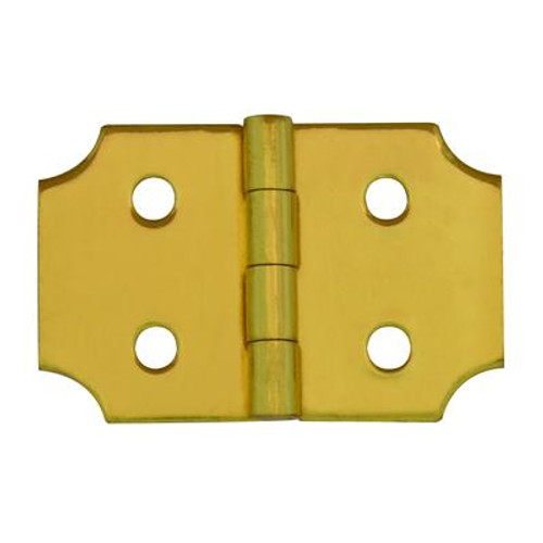 1 Inch  Solid Brass Ornamental Hinge 2pk