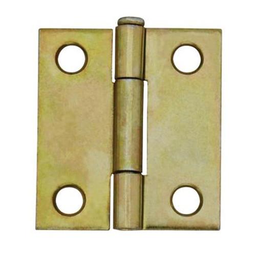 1-1/2 Inch  Brass Narrow Hinge Loose Pin 2pk