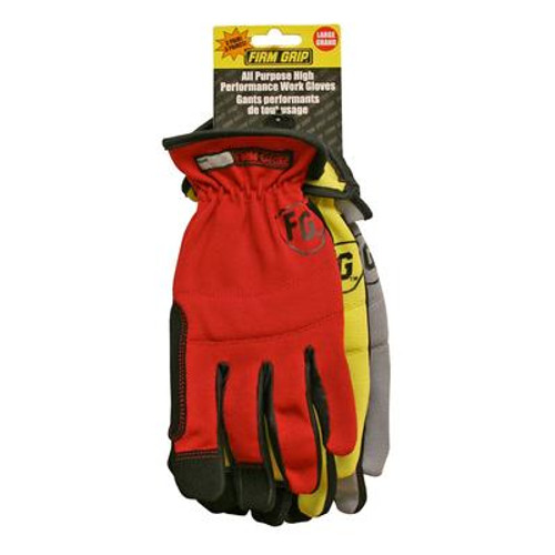 3 Pr Value Pack All Purpose High Performance Work Gloves
