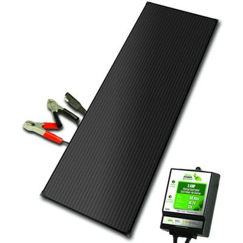 18 Watt Aluminum Solar Battery Charger Kit With 8 Amp Charge Controller