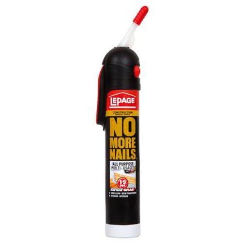 Lepage No More Nails All Purpose Clear Construction Adhesive