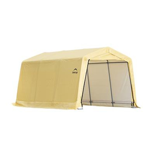 10 Feet X 15 Feet x 8 Feet Tan Cover Auto Shelter