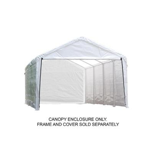 12 Feet. x 30 Feet. Sidewalls and Doors Kit for Super Max AP White Canopy