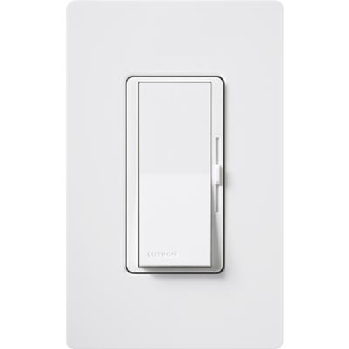 DIVA ECO 600W 1P/3W DIMMER WITH PLATE - W