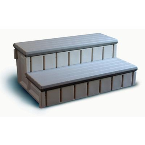 Spa Step With Storage - Gray