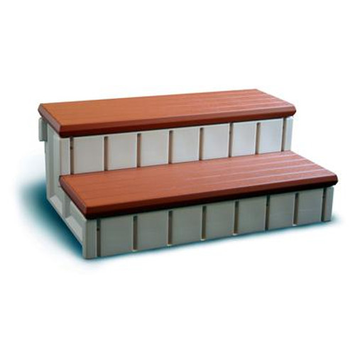 Spa Step With Storage - Redwood