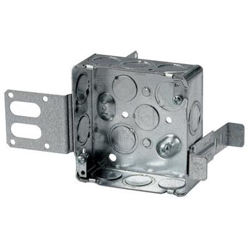 4 In. Square Box 1-1/2 In. Deep Steel Stud