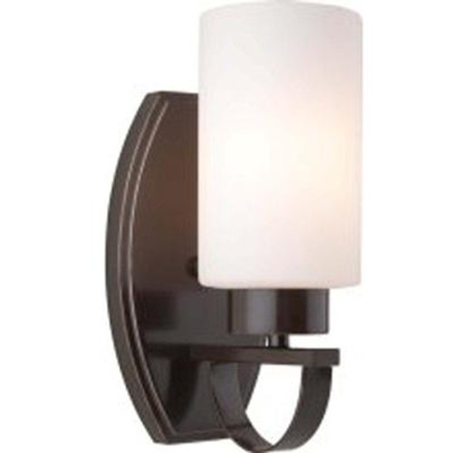 1 Light Wall Oiled Bronze Incandescent Wall Sconce